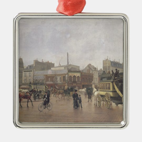 La Place Clichy, Paris, 1896 Metal Ornament