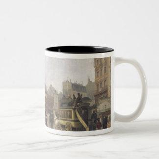 La Place Clichy, Paris, 1896 Two-Tone Coffee Mug