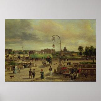 La Place de la Concorde in 1829 Poster