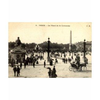 La Place de la Concorde Paris Vintage c1910 shirt