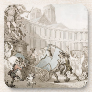La Place des Victoires, Paris, c.1789 (pen and ink Drink Coaster