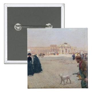 La Place du Carrousel, París Pin Cuadrada 5 Cm