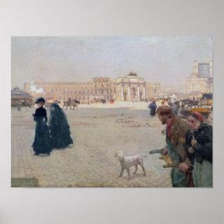 La Place du Carrousel, París Póster