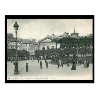 La Place du Champ de Bataille, Brest, France Vinta Postcard