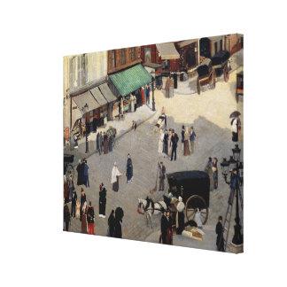 La Place Pigalle, Paris, 1880s Stretched Canvas Print