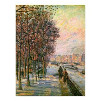 La Place Valhubert by Armand Guillaumin Postcard