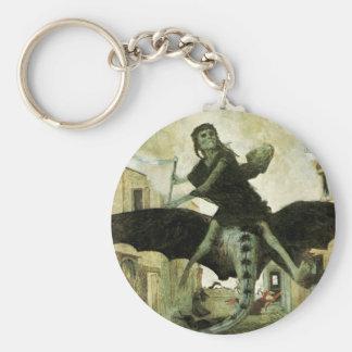 La plaga de Arnold Bocklin, simbolismo del vintage Llavero Redondo Tipo Pin