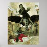 La plaga de Arnold Bocklin, simbolismo del vintage Posters