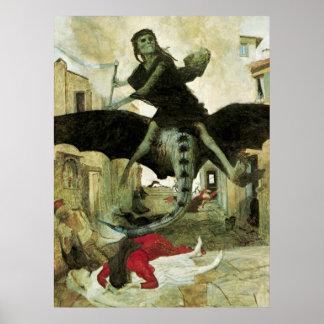 La plaga de Arnold Bocklin simbolismo del vintage Posters
