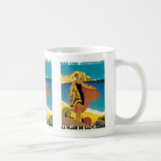 La Plage de Calvi, Corse Coffee Mug