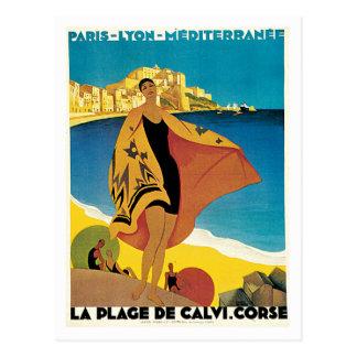 La Plage De Calvi Corse France Postcard
