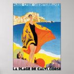 La Plage De Calvi. Corse Poster