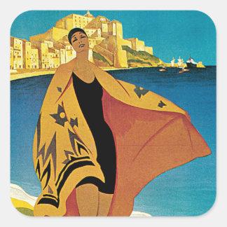 La Plage de Calvi, Corse Square Sticker
