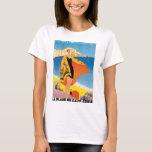 La Plage de Calvi Corse Vintage Travel Poster T-Shirt