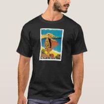 La Plage de Calvi, France vintage travel poster T-Shirt