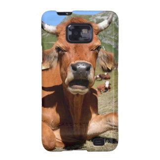 La Plagne C.jpg de Vache Tarine Carcasa Para Samsung Galaxy S2