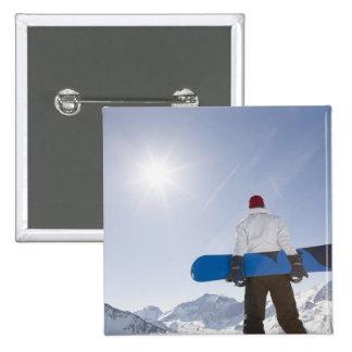 La Plagne, French Alps, France 2 Inch Square Button