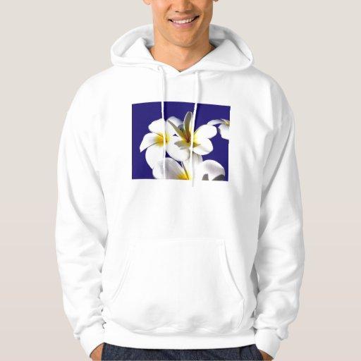 la planta del ti florece back.jpg azul blanco sudadera encapuchada