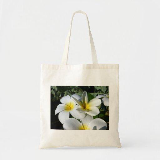 la planta del ti florece blanco amarillo bolsa de mano