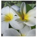 la planta del ti florece blanco amarillo servilletas imprimidas