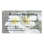 la planta del ti florece blanco amarillo plantillas de tarjeta de negocio