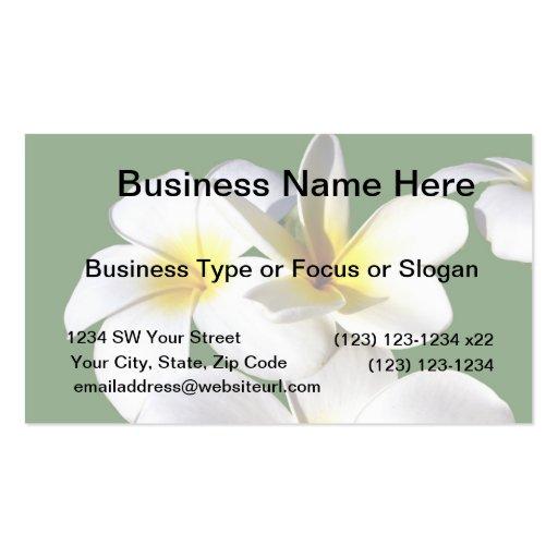 la planta del ti florece la parte posterior blanca plantilla de tarjeta personal