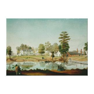 La plantación de Olivier, 1861 Impresión En Lienzo Estirada