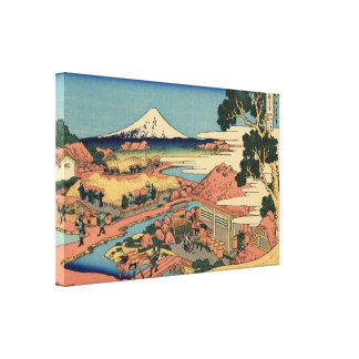 La plantación de té por Hokusai Impresion De Lienzo