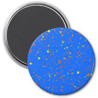 la plantilla 101 aprisa crea el azul 2 imán redondo 7 cm