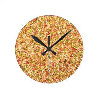 La plantilla artística DIY del confeti añade los Reloj