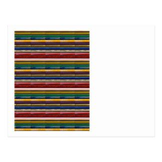 La PLANTILLA colorida de Mosiac de las rayas añade Postal