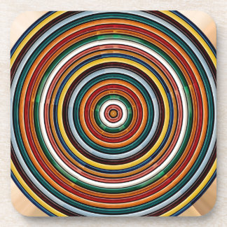 La PLANTILLA de Chakra de la rueda de la energía Posavasos