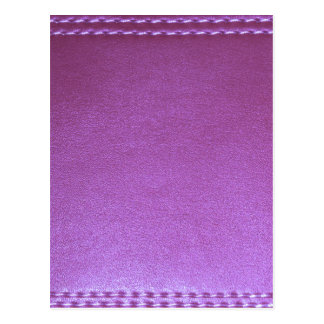 La plantilla de cuero púrpura del final añade la postales