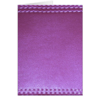 La plantilla de cuero púrpura del final añade la tarjeta de felicitación