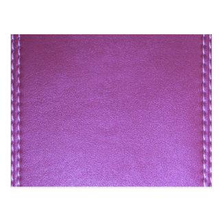 La plantilla de cuero púrpura del final añade la tarjetas postales