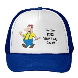La plantilla de la gorra de béisbol de Boss