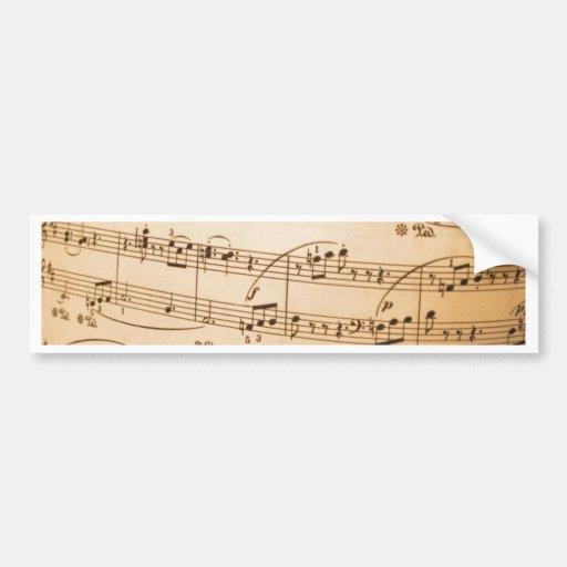 La plantilla de la partitura crea sus propios rega etiqueta de parachoque