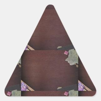 La plantilla de la sombra del color oscuro fácil colcomanias trianguladas personalizadas