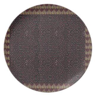 La plantilla de la textura de la tela añade la platos