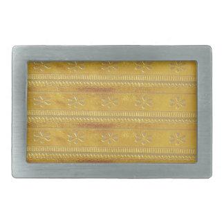 La plantilla de oro DIY de la tela de seda añade Hebilla De Cinturon Rectangular
