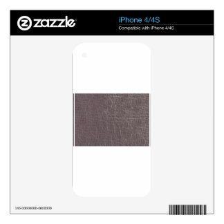 la plantilla de plata gris de cuero de la textura iPhone 4 skins