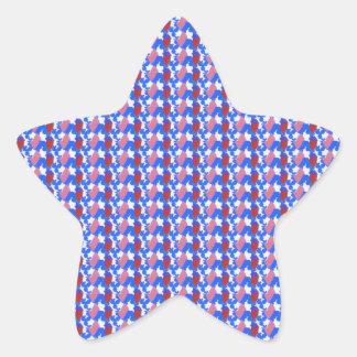 La plantilla de vuelta DIY del sorteo de los Calcomanías Forma De Estrella Personalizadas