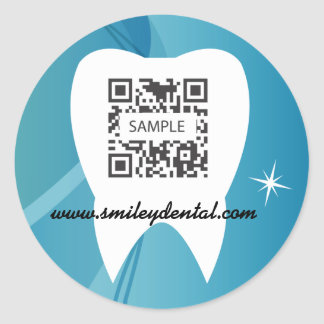 La plantilla del pegatina dental hace un care-test