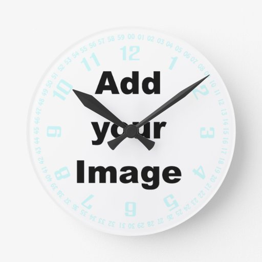 La plantilla del reloj numera y secunda el pastel