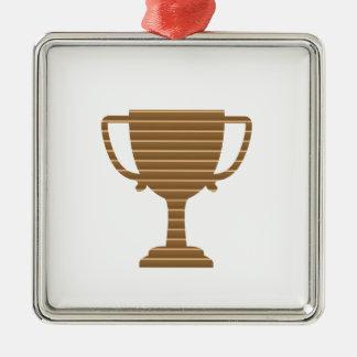 La PLANTILLA del trofeo del oro del ganador añade Adorno Cuadrado Plateado
