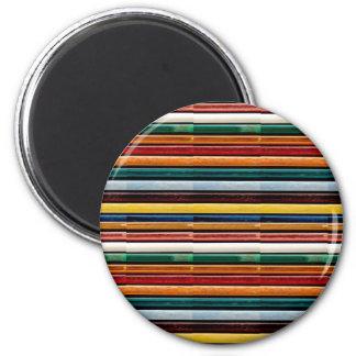 La plantilla DIY añade la tira grabada en relieve Imán Redondo 5 Cm