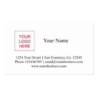 La plantilla el | de la tarjeta de visita del logo
