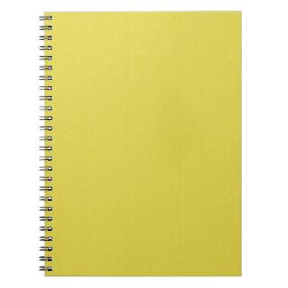La plantilla en blanco amarilla del llano DIY Libros De Apuntes Con Espiral