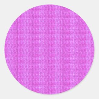 La plantilla esconde textura cristalina artística pegatina redonda