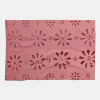 La plantilla floral de las flores abstractas del toallas de mano